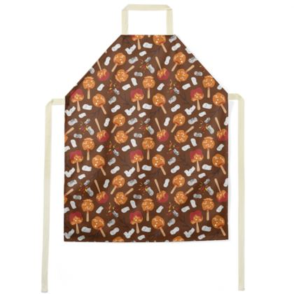Candy Apples and Marshmallows [CHOCOLATE BROWN] Aprons