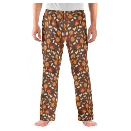 Candy Apples and Marshmallows [CHOCOLATE BROWN] Mens Pyjama Bottoms