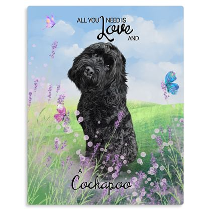 Black all you need is love and a cockapoo