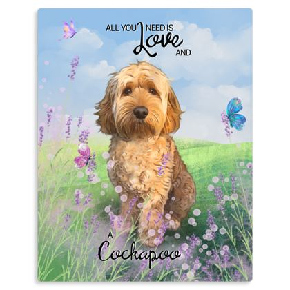 Apricot All you need is love and a cockapoo