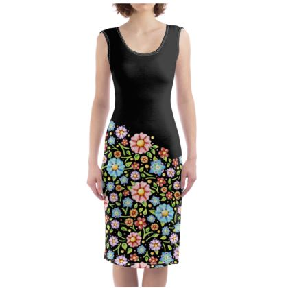 Millefiori Floral Bodycon Dress