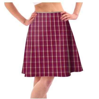 Flared Skirt Plaid 1
