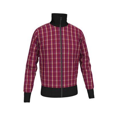 Mens Tracksuit Jacket Plaid 1