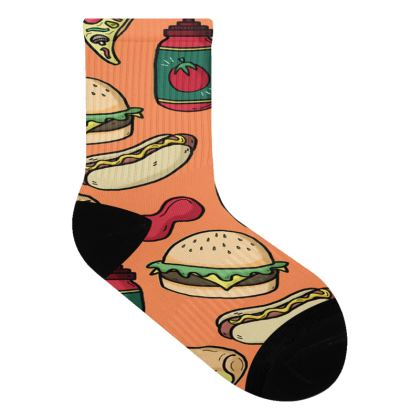 Pizza Party Socks