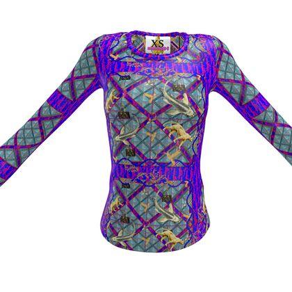 Funky longarm slimfit #shirt #ninibing34 XS purple