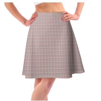 Flared Skirt Plaid 2