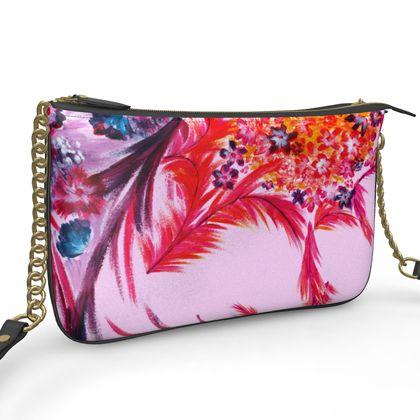 POCHETTE DOUBLE ZIP BAG  | Candy bloom |