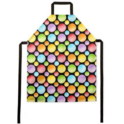 Rainbow Polka Dots Full Aprons