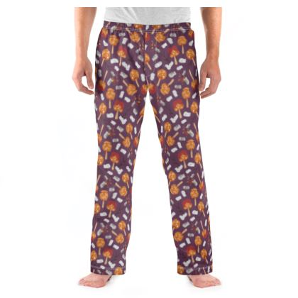 Candy Apples and Marshmallows [DUSK PURPLE] Mens Pyjama Bottoms