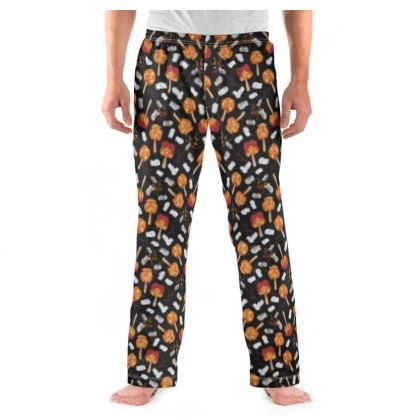 Candy Apples and Marshmallows [BLACK] Mens Pyjama Bottoms