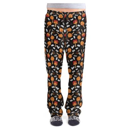 Candy Apples and Marshmallows [BLACK] Ladies Pyjama Bottoms