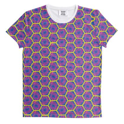 Hex Chaos Geo Pattern ~ Day Of The Dead All Over Graphic Tee
