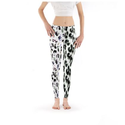 Trendy painted leopard leggings