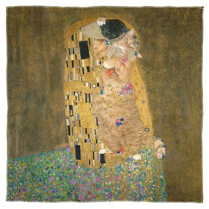 """Scarf """"Klimt's Kiss the Cat"""""""