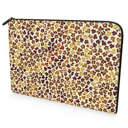 Leopard Skin Collection Leather Document Case