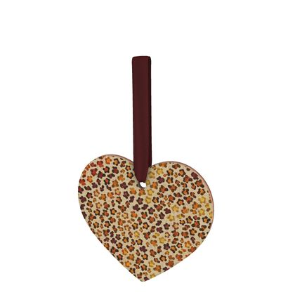 Leopard Skin Collection Wooden Christmas Decorations
