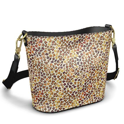 Leopard Skin Collection Penzance Large Leather Bucket Tote