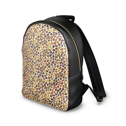 Leopard Skin Collection Leather Backpack