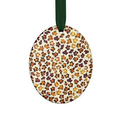Leopard Skin Collection Hand Made Flat Ornaments