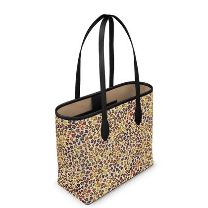 Leopard Skin Collection Leather City Shopper