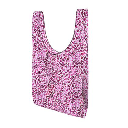 Leopard Skin in Magenta Collection Parachute Shopping Bag