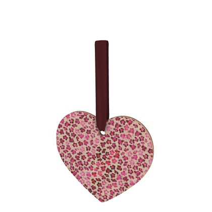 Leopard Skin in Magenta Collection Wooden Christmas Decorations