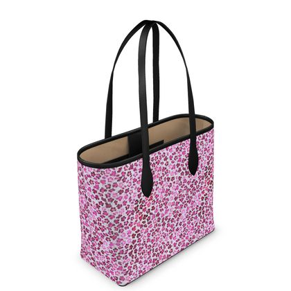 Leopard Skin in Magenta Collection Leather City Shopper