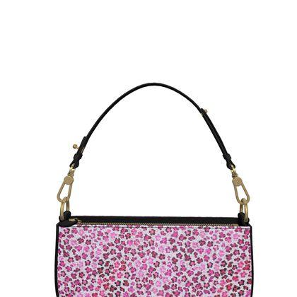 Leopard Skin in Magenta Collection Zip Box Bag
