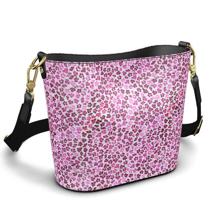 Leopard Skin in Magenta Collection Penzance Large Leather Bucket Tote