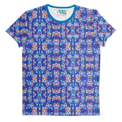 Cut And Sew All Over Print T Shirt Blue  Slipstream  Almost Winter