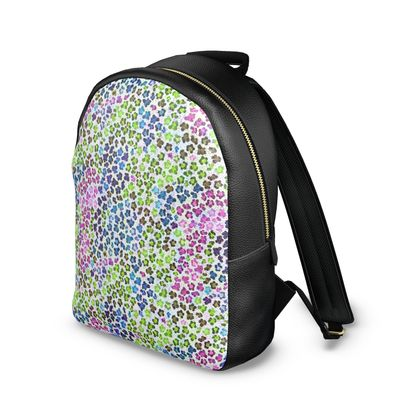 Leopard Skin Multicoloured Collection Leather Backpack
