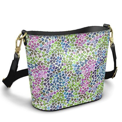 Leopard Skin Multicoloured Collection Penzance Large Leather Bucket To