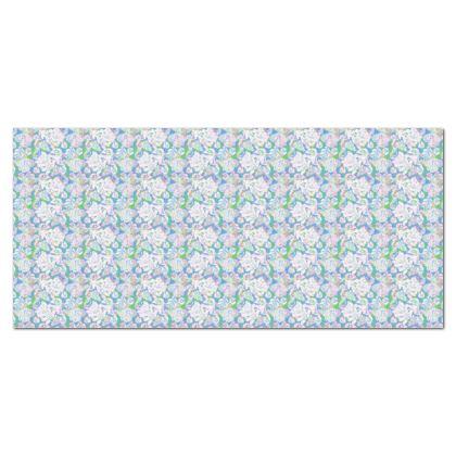 Tablecloth, Blue, White Leaf  Oaks  Tumnus