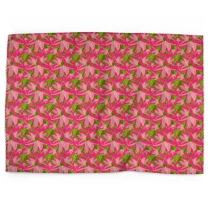 Tea Towels Pink, Green, Flower  Alpina  Candyfloss