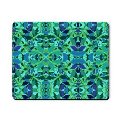 Mousepad, Blue, Green, Leaf  Diamond Leaves  Rainforest