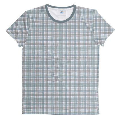 Cut And Sew All Over Print T Shirt Plaid 9