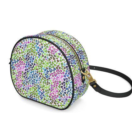 Leopard Skin Multicoloured Collection Round Box Bag