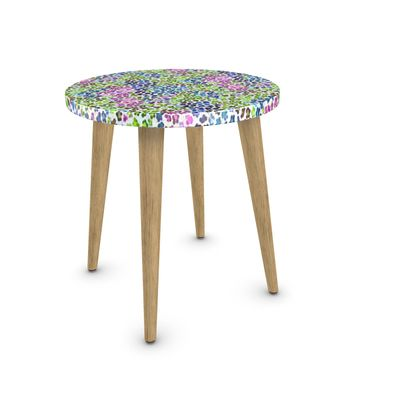 Leopard Skin Multicoloured Collection Side Table