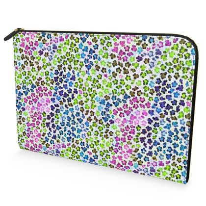 Leopard Skin Multicoloured Collection Leather Document Case