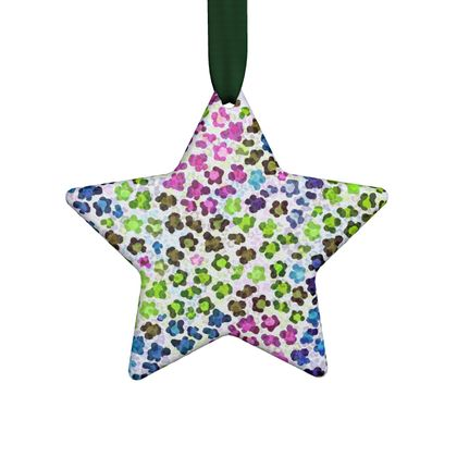 Leopard Skin Multicoloured Collection Hand Made Flat Ornaments