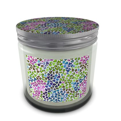 Leopard Skin Multicoloured Collection Set Candle In Jar