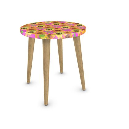 Naive Sunflowers On Fuchsia Side Table