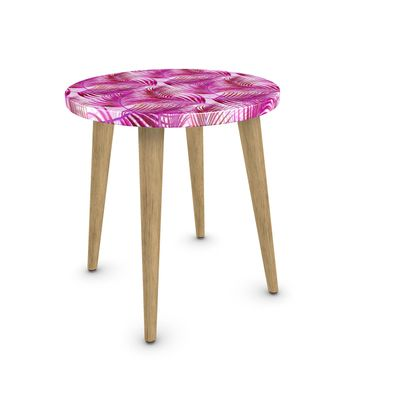Tropical Garden in Magenta Collection Side Table