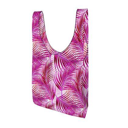 Tropical Garden in Magenta Collection Parachute Shopping Bag