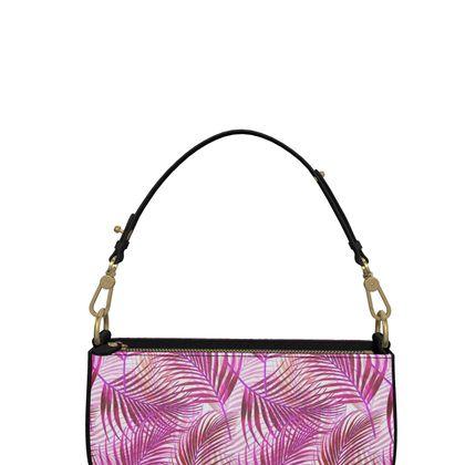 Tropical Garden in Magenta Collection Zip Box Bag