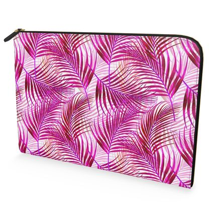 Tropical Garden in Magenta Collection Leather Document Case