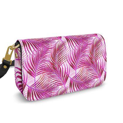 Tropical Garden in Magenta Collection Flap Over Box Bag