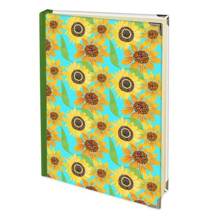 Naive Sunflowers On Turquoise 2022 Deluxe Diary