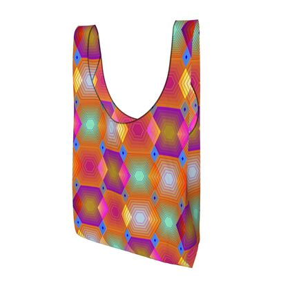 Geometrical Shapes Collection Parachute Shopping Bag
