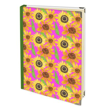 Naive Sunflowers On Fuchsia 2022 Deluxe Diary